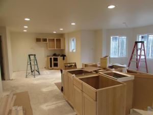 Installiing cabinets